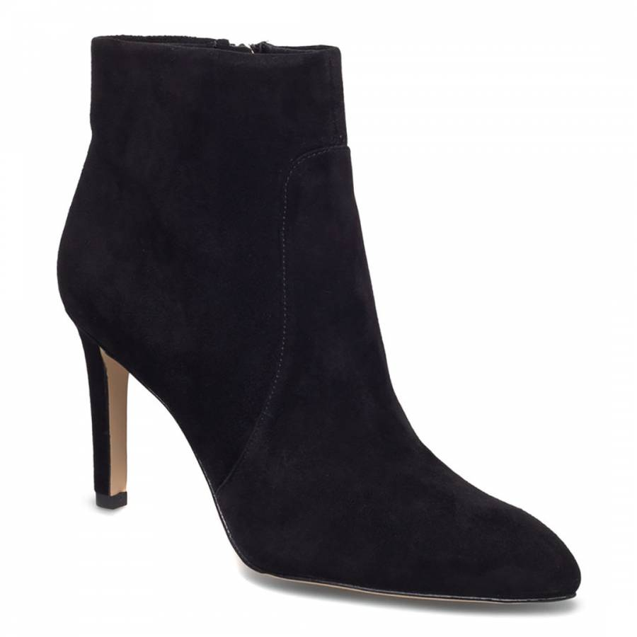 aa21bdc979a6cf Black Suede Olette Pointed Toe Bootie - BrandAlley