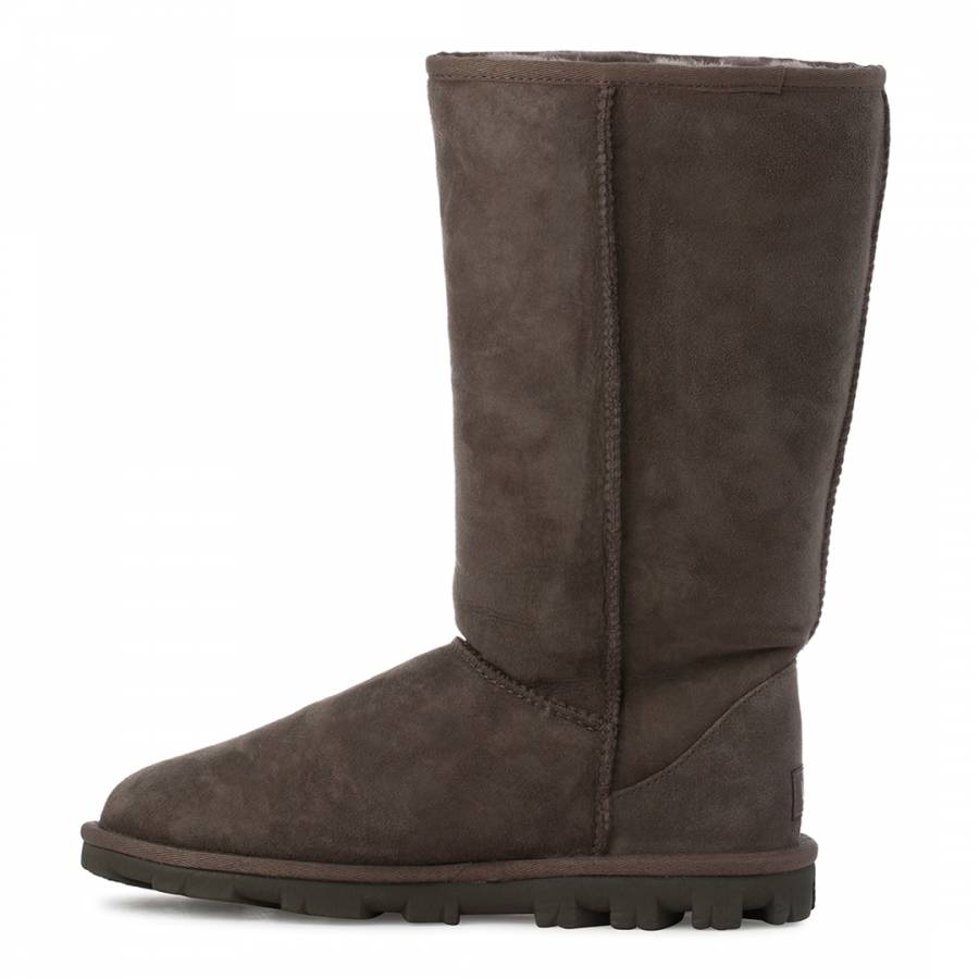 cbff9ef1350 Grey Suede Essential Tall Boots - BrandAlley