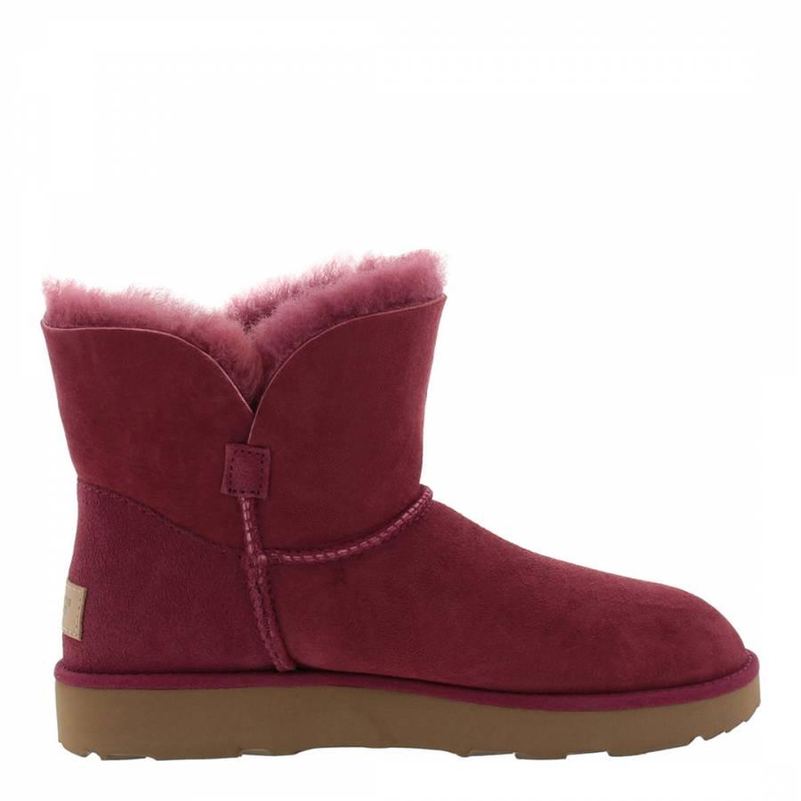 0a5f557151f Garnet Suede Classic Cuff Mini Boots