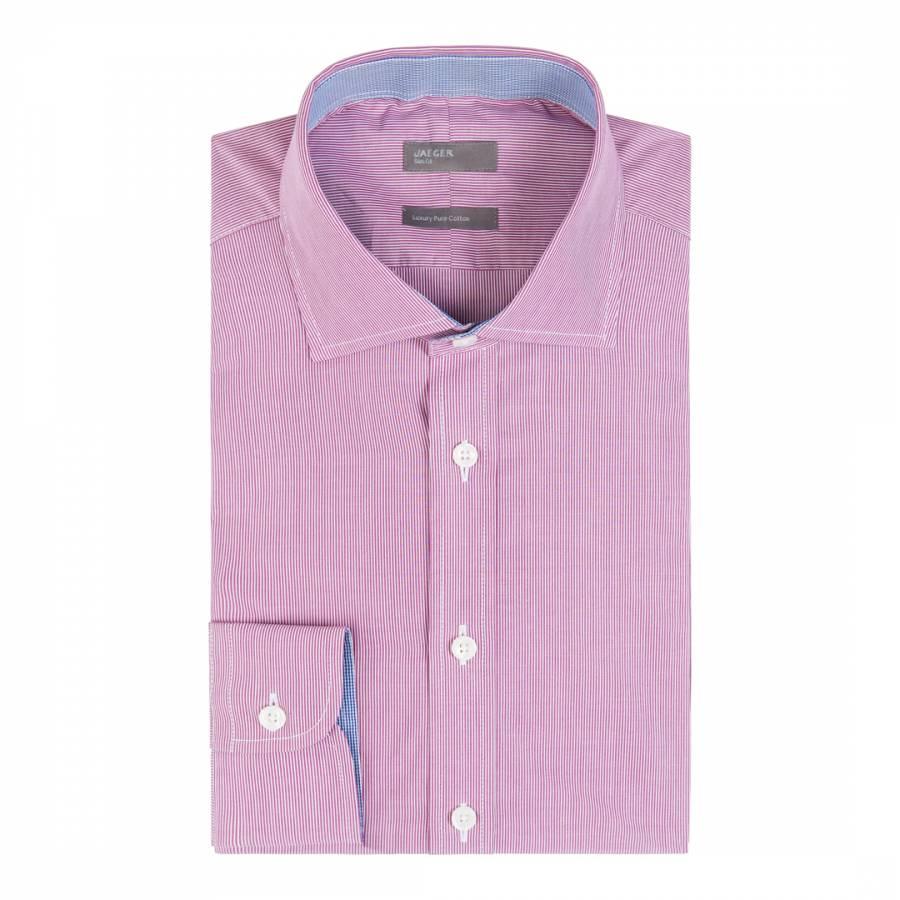 422ed3f5b589 Pink Slim Thin Bold Stripe Shirt - BrandAlley
