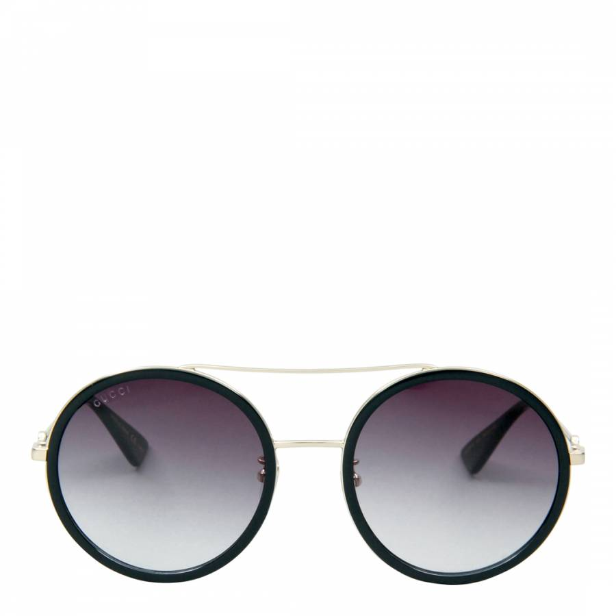 ff321a5c532 Women s Black with Gold Arms Grey Sunglasses 56mm - BrandAlley