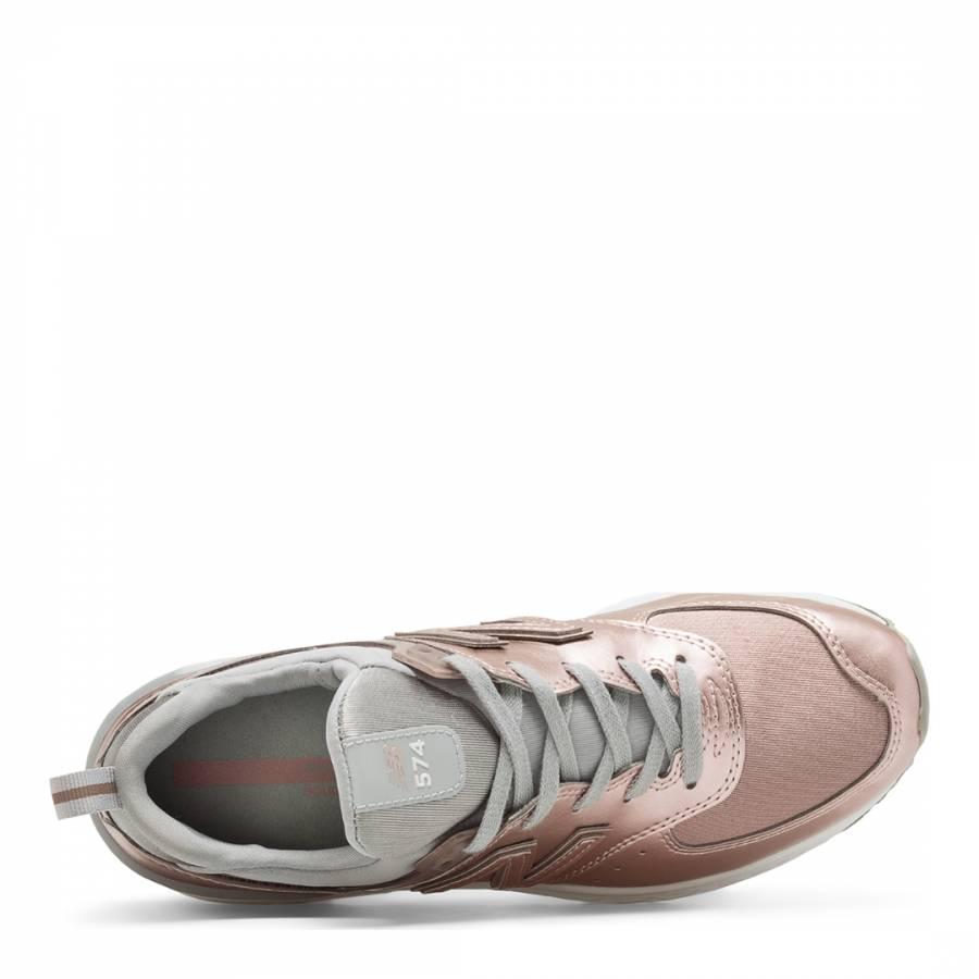 1d2324e46ab Womens Rose Gold Metallic 574 Sneakers - BrandAlley