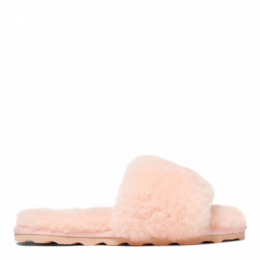 66499d887226 Women s Baby Pink Sheepskin Flip Flop Slipper - BrandAlley