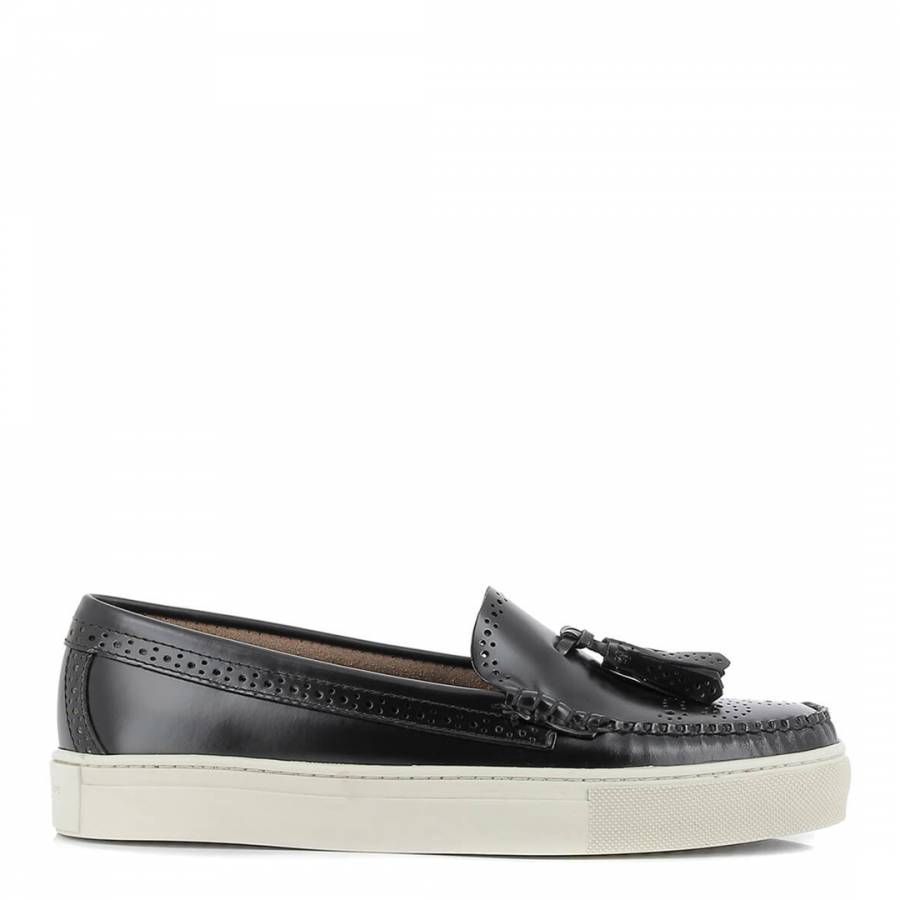7babd649c41 GH Bass Women s Black Leather Weejuns Cup Estelle Loafers. prev. next. Zoom