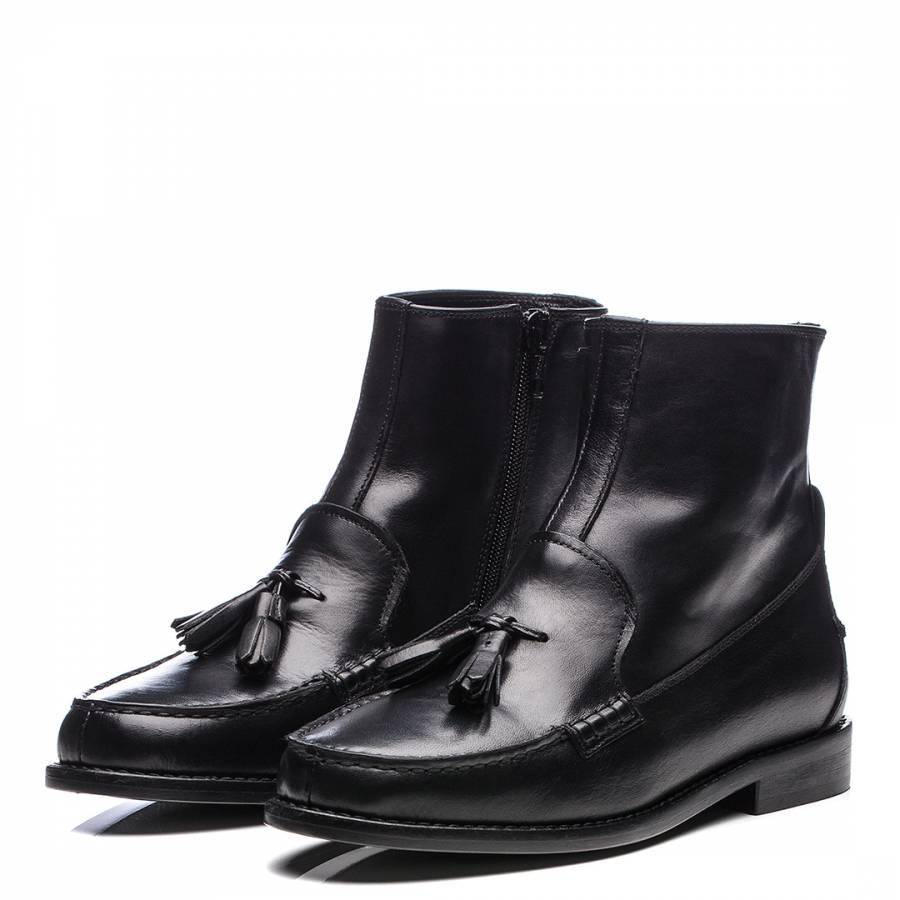 4efa8d5c193 Women s Black Leather Estelle Weejun Boot - BrandAlley