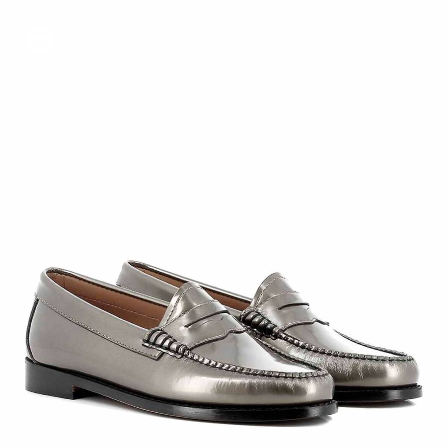 e8f70a73a75 Women s Patent Pewter Leather Penny Wheel Weejun Loafer - BrandAlley