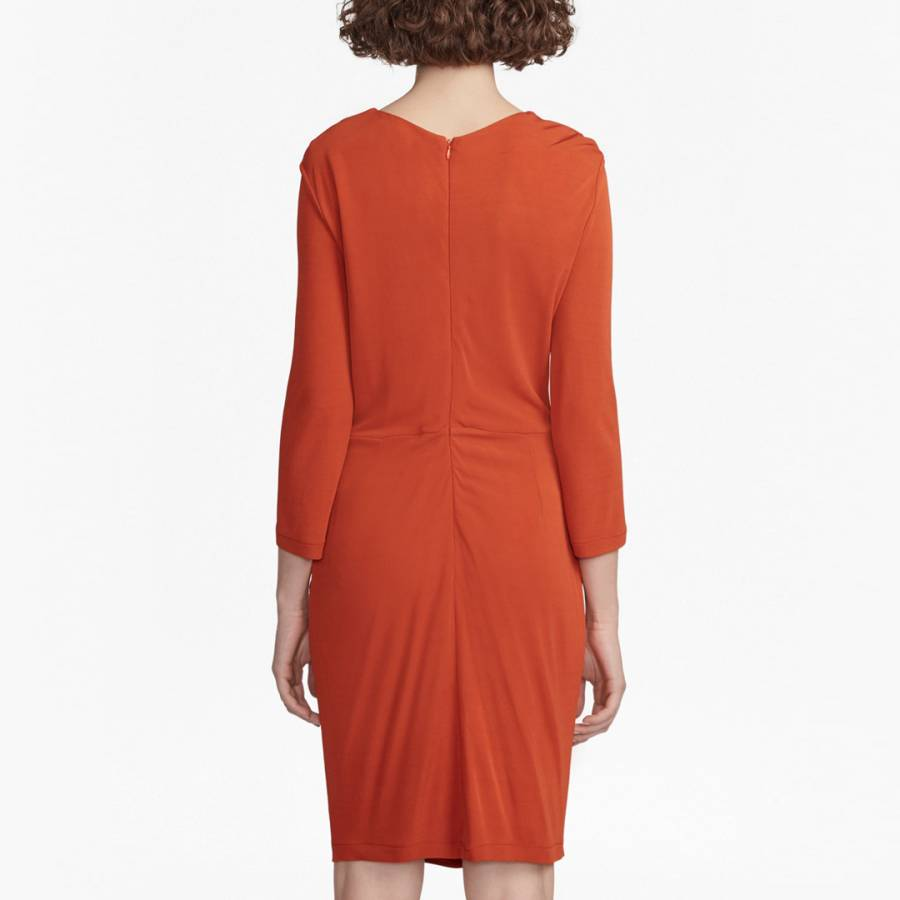 30a29c55ad43ad Copper Coin Elsa Long Sleeved Draped Jersey Dress - BrandAlley