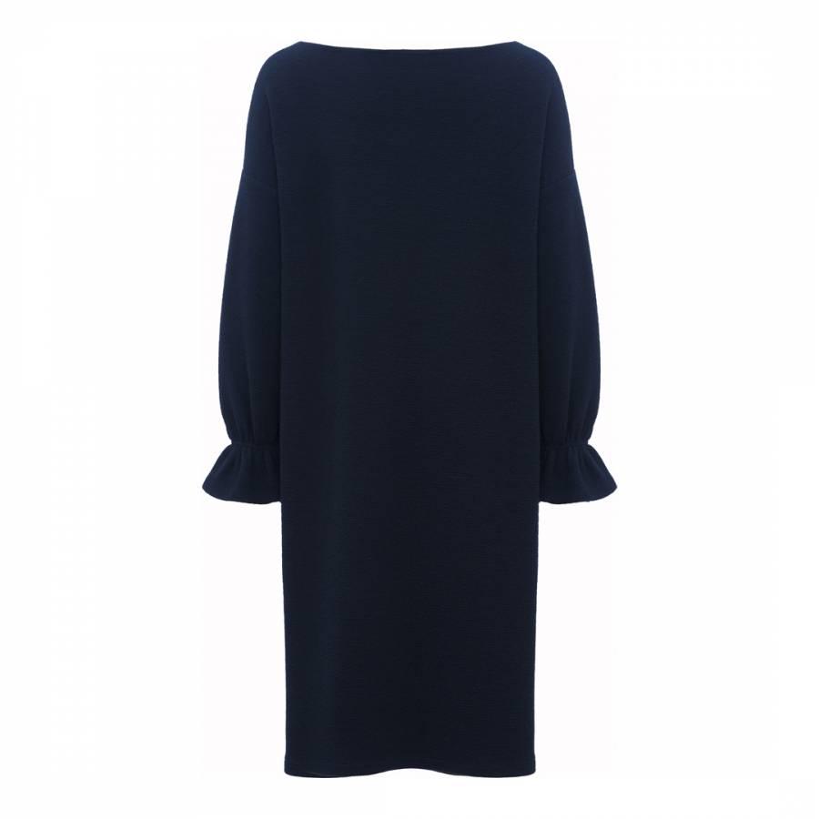 7789c678da1 Black Eliza Crepe Long Sleeve Tunic Dress - BrandAlley