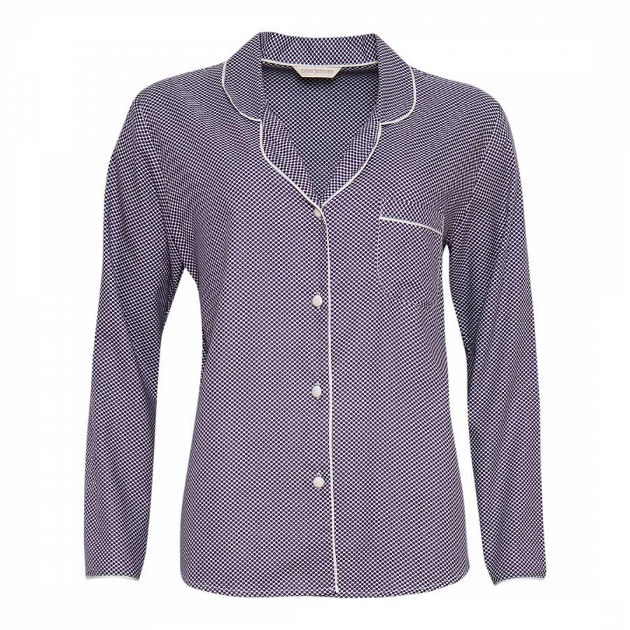 Purple Abigail Woven Long Sleeve Spot Print Pyjama Top - BrandAlley 0f528dafa
