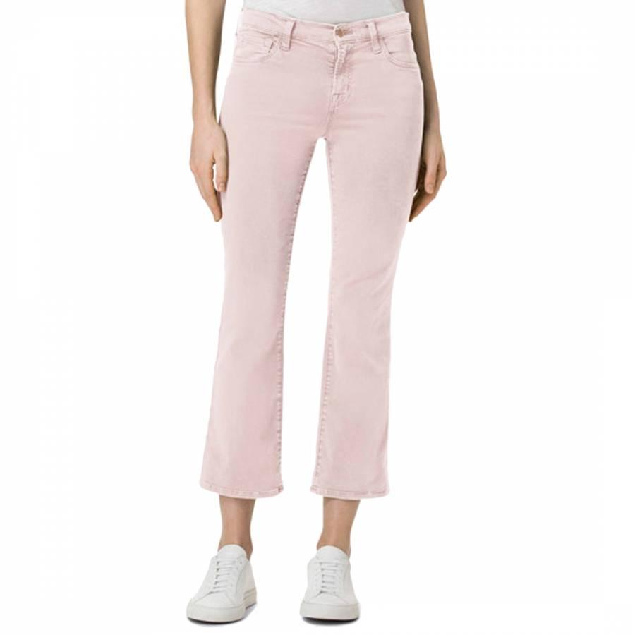 c0cc33cd1b4e6 Distressed Peach Whip Selena Mid Rise Crop Bootcut Jeans - BrandAlley