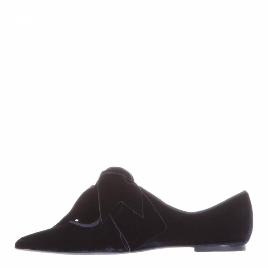 7f72301433ac Midnight Velvet Clara Bow Flats - BrandAlley