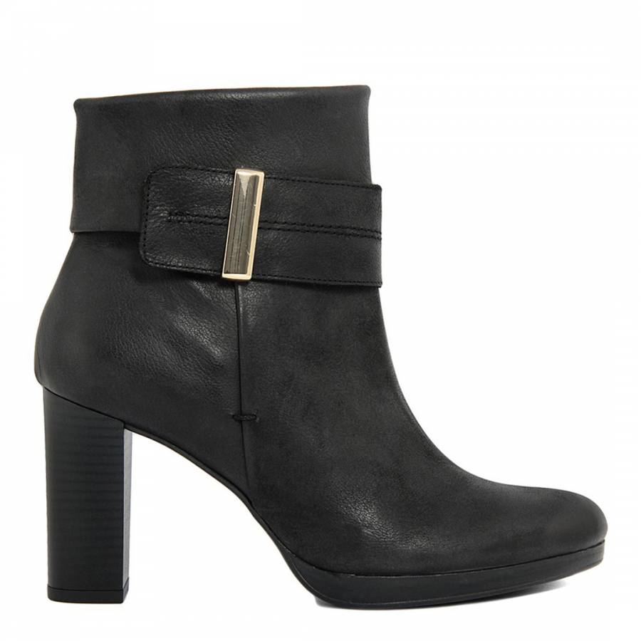 c31240921a60 Roberto Carrioli Black Leather Ankle Strap Detail Ankle Boots