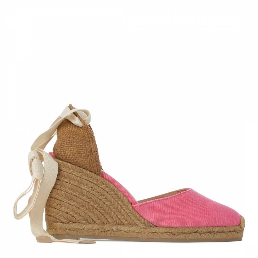 78b9ff23b3f Womens Pink Ankle Tie Wedge Espadrilles - BrandAlley