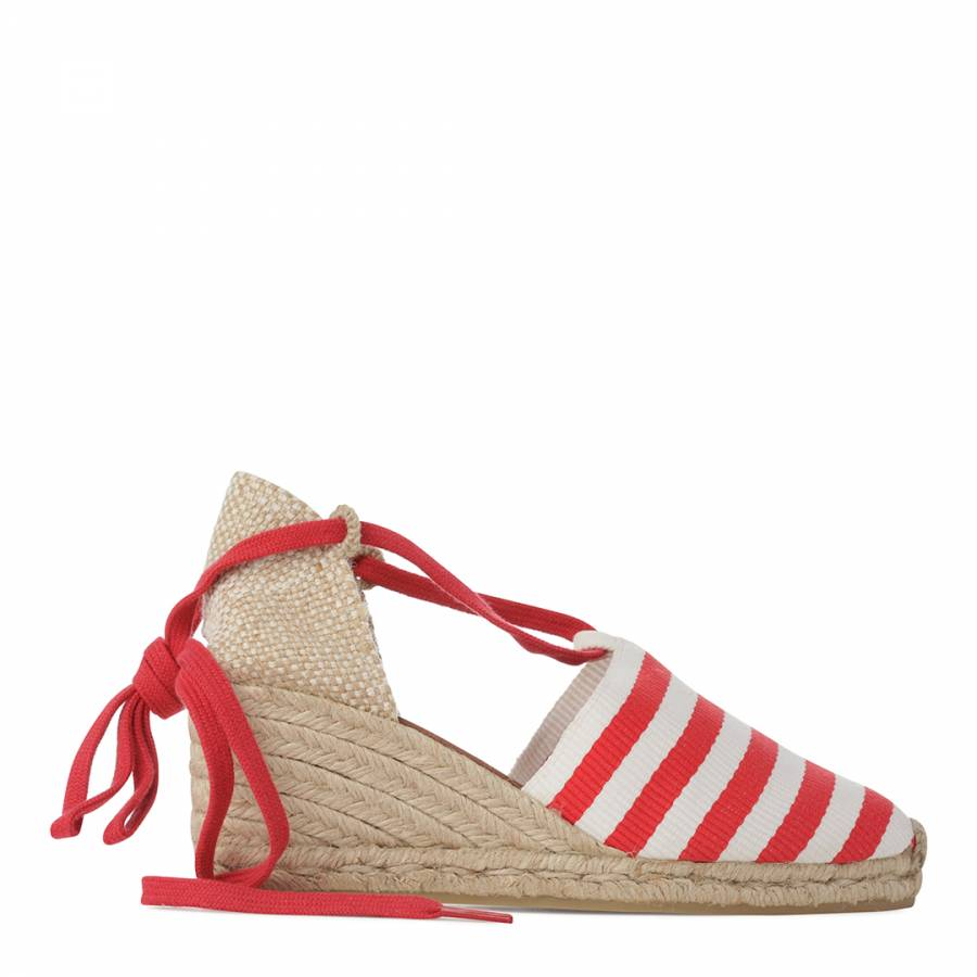 cc7aa191a Womens Exotic Tropical Coloured Coquina Wedge Espadrilles - BrandAlley