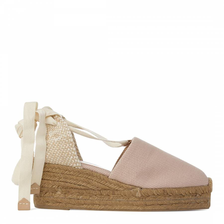 1dc6580f6374 Womens Light Pink Campia Wedge Espadrilles - BrandAlley