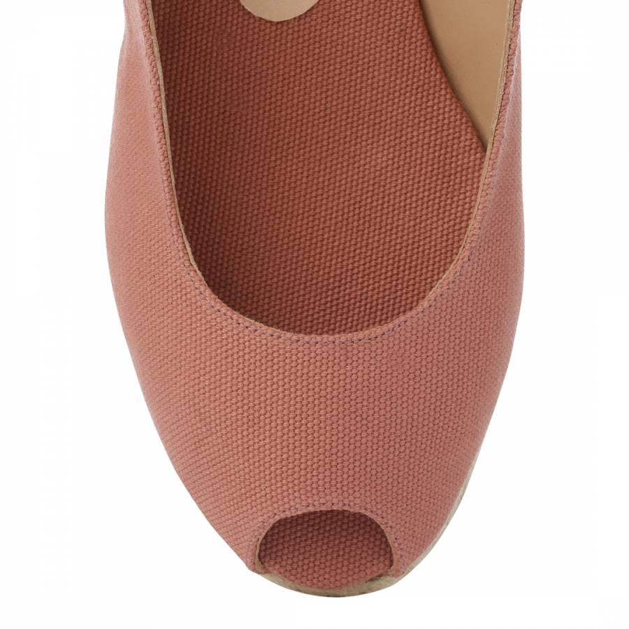 c55b70d265e Womens Pink Beli Peep Toe Wedge Espadrilles - BrandAlley