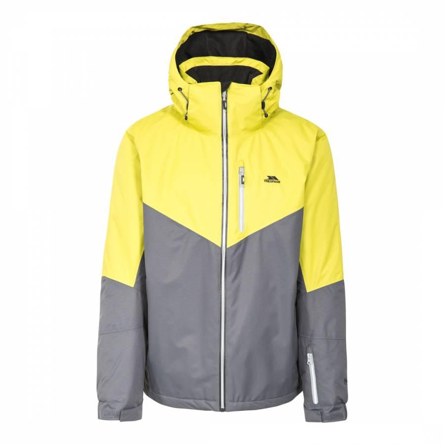 99b2a0de4 Men's Yellow/Grey Hidey Insulated Waterproof Ski Jacket - BrandAlley