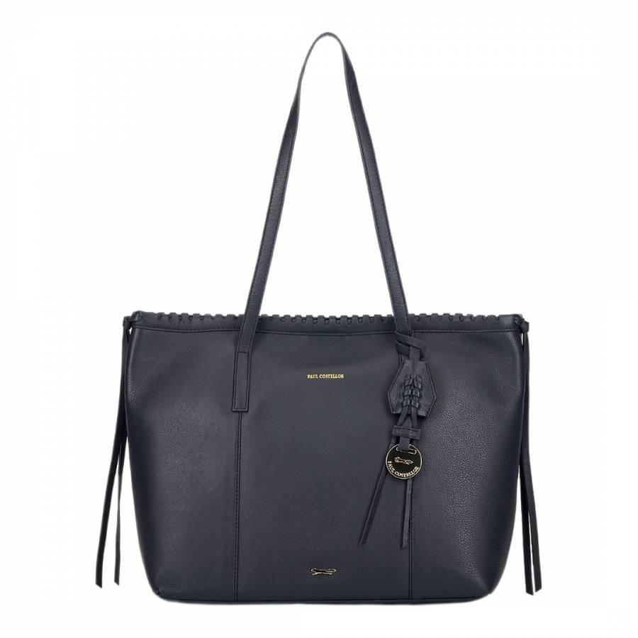 Paul Costelloe Navy Aurora Leather Bag baca569044a70