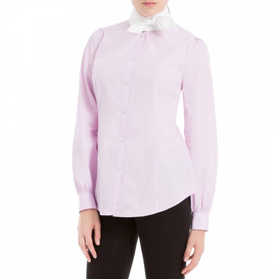 78d8867d Leon Max Collection Pink Blouson Sleeve Tie Neck Cotton Shirt