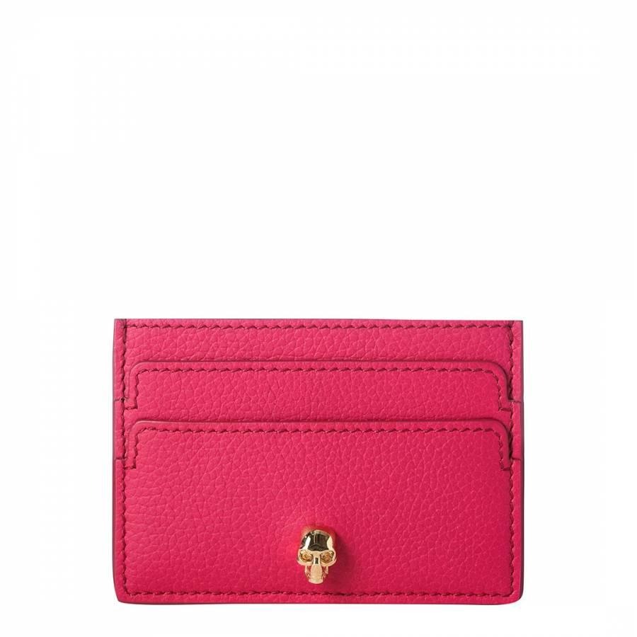 569b3d98d259 Alexander McQueen Bright Pink Alexander McQueen Skull Wallet