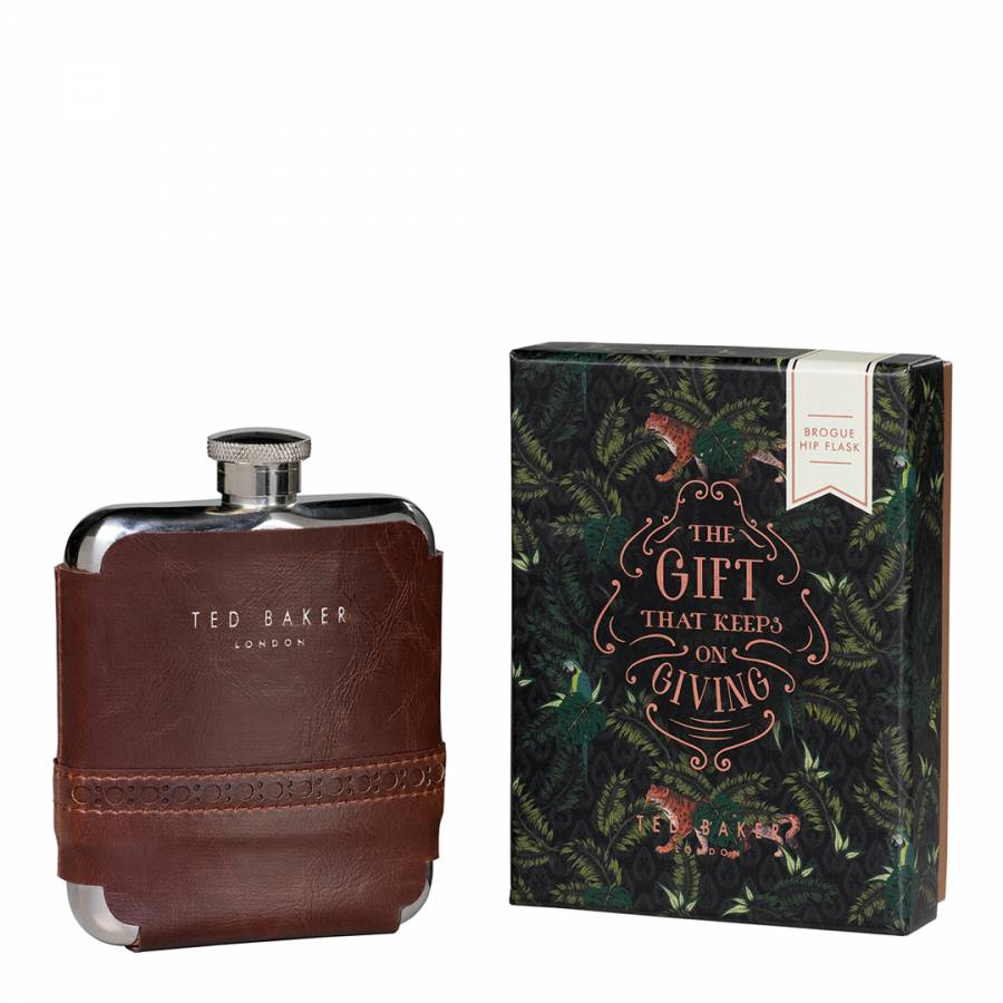 e96c0c374fee2 Ted Baker Walnut Brown Brogue Hip Flask. prev. next. Zoom