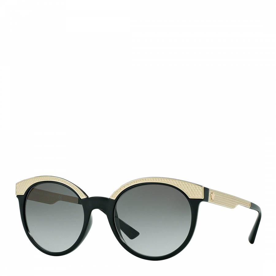44e50c1be45a Versace Women s Black and Gold Round Sunglasses 53mm. prev. next. Zoom