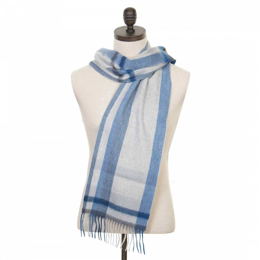 Grey Abstract Cashmere Scarf Brandalley