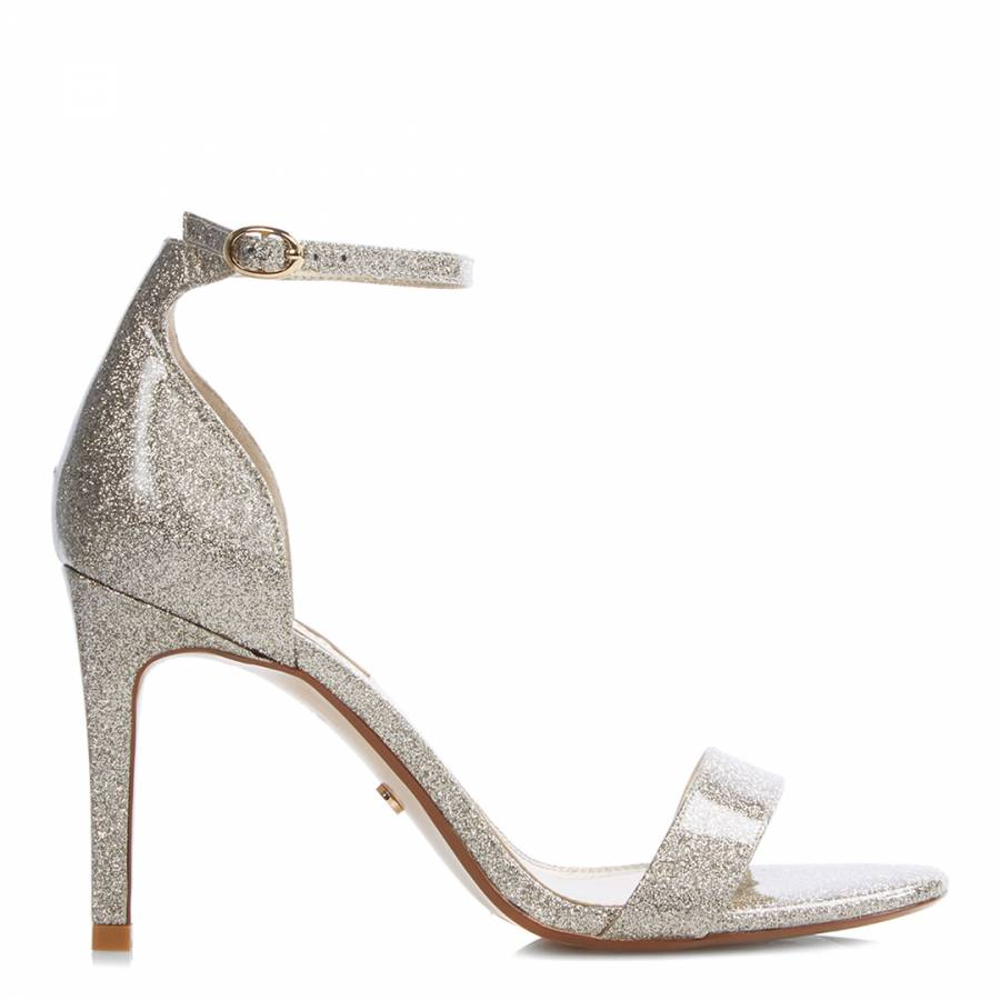 50106e726cb2 Gold Mortimer Barely There Heeled Sandals - BrandAlley