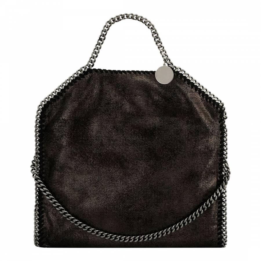 509e800dfdd2 Stella McCartney Black Large Gold Falabella Tote Bag