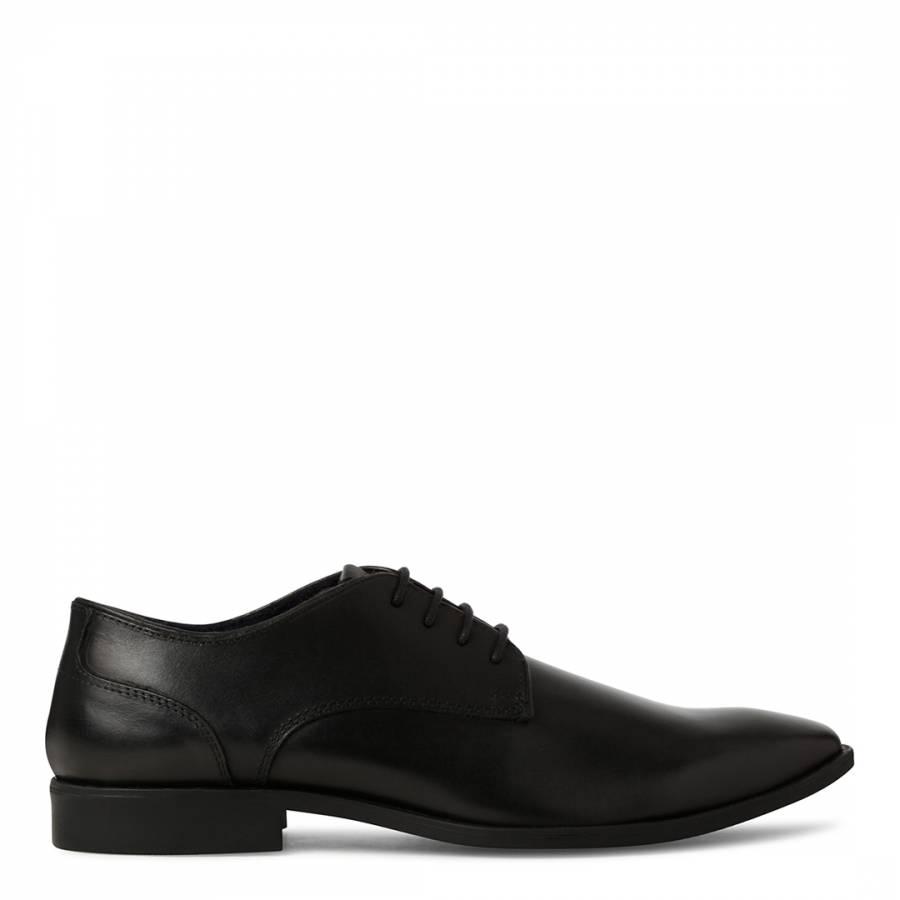 8e79323596a Black Burnished Leather Roman Formal Derby Shoe - BrandAlley