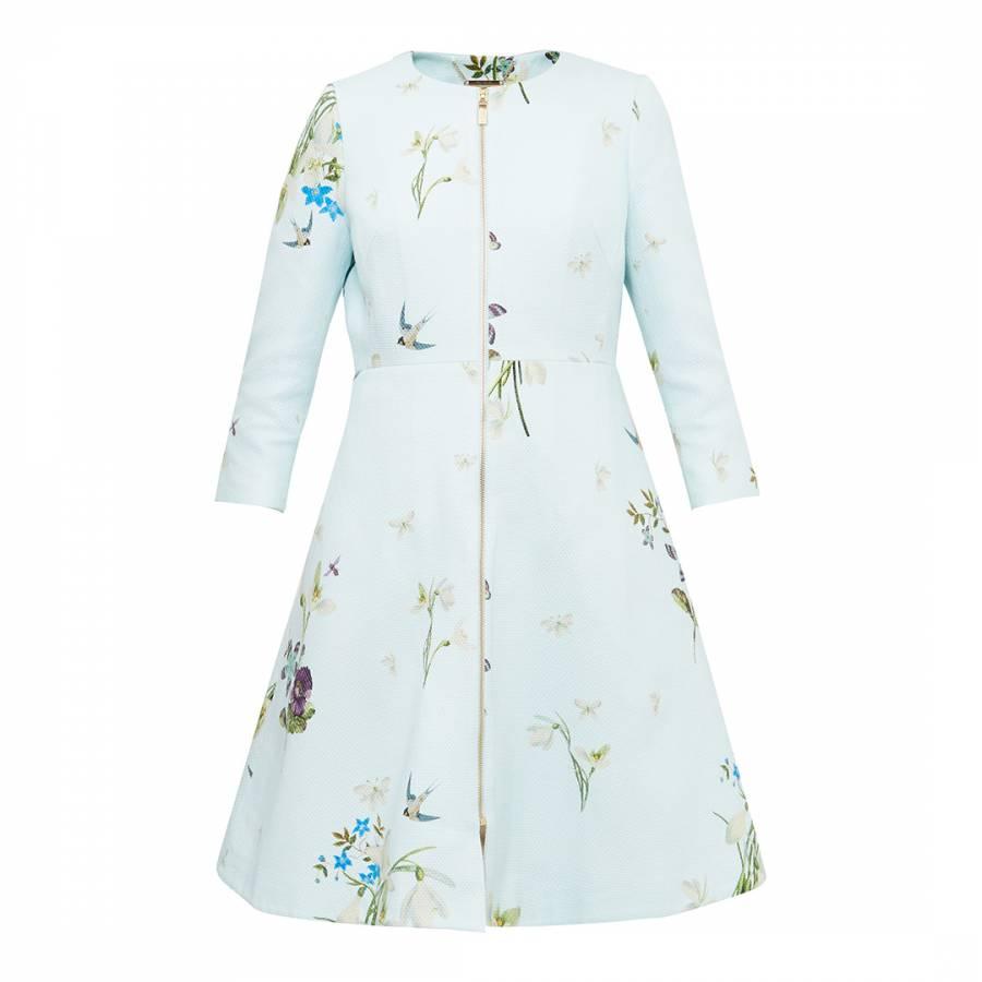 3940a9730a48e3 Baby Blue Racheel Spring Meadow Print Coat - BrandAlley