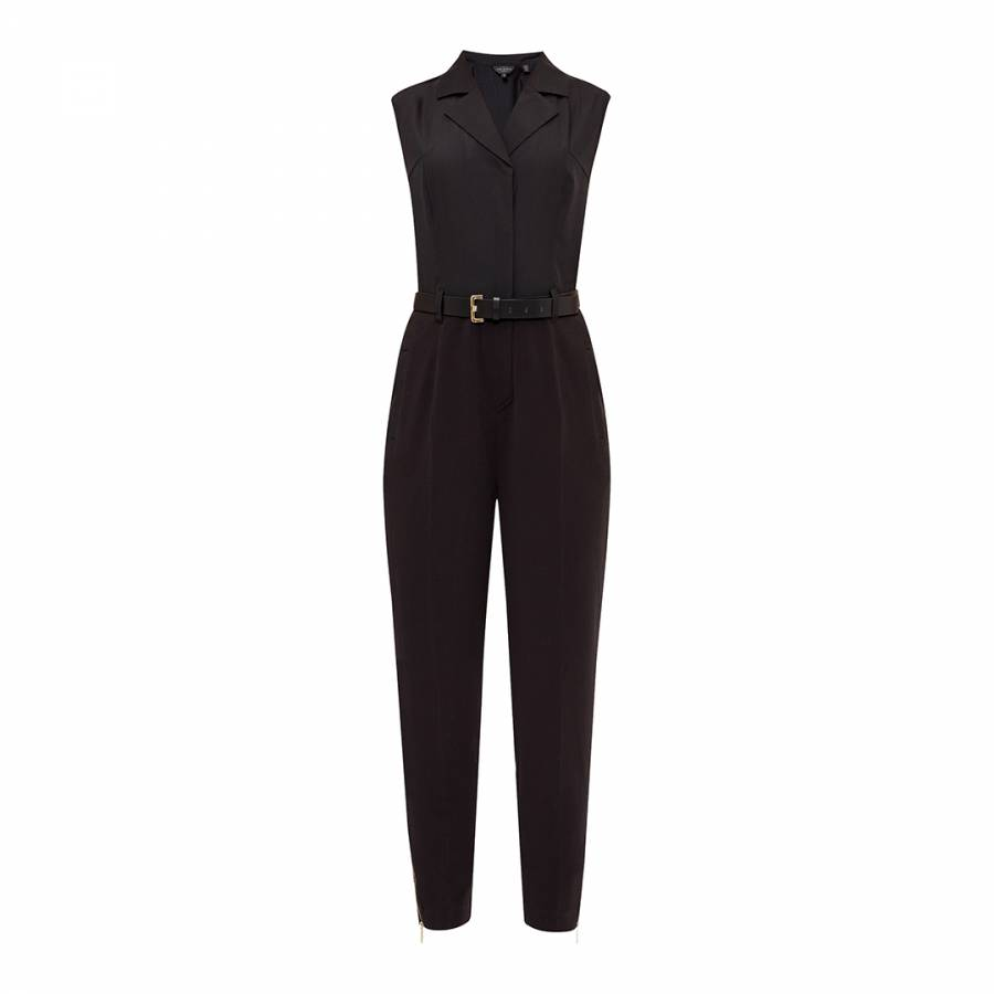132f8ceeb1c Black Natoly Casual Collared Jumpsuit - BrandAlley