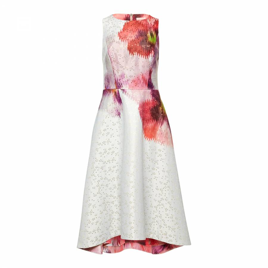 c9e1a4f2f5b Light Grey Jenn Expressive Pansy Jacquard Dress - BrandAlley
