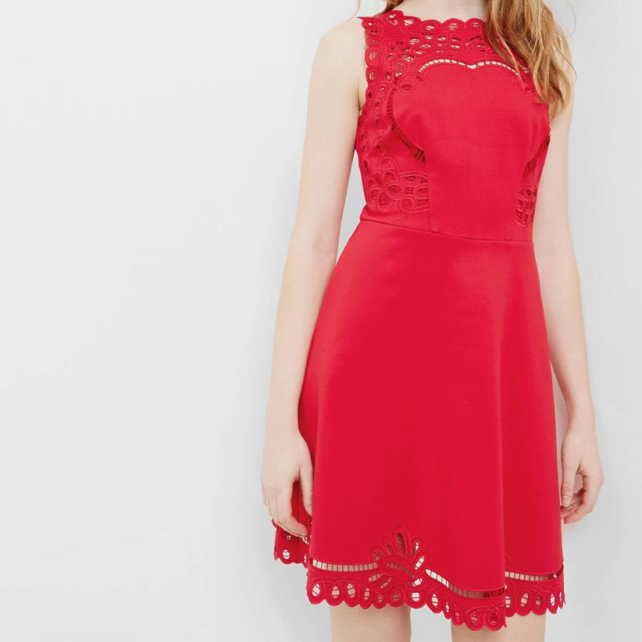 f94eb112f2df78 ... Bright Red Verony Embroidered Skater Dress - BrandAlley best service  b9c54 c066a ...