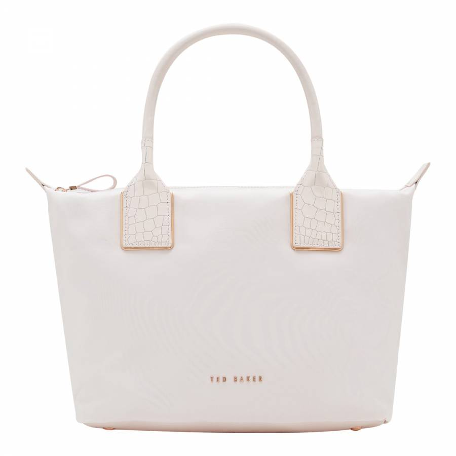 0cbfde2a8bd1 Baby Pink Aviaa Embossed Trim Small Nylon Tote Bag - BrandAlley