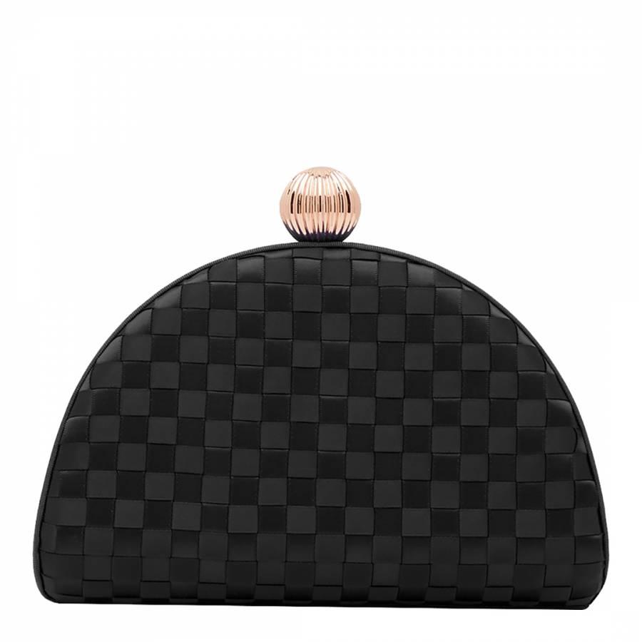 Ted Baker Black Kyla Woven Clutch Bag
