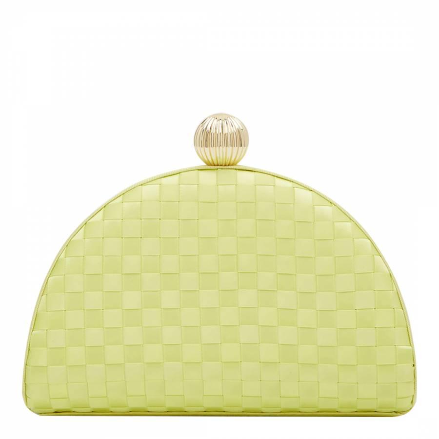 a39b2bc4a38a Mid Green Kyla Woven Clutch Bag - BrandAlley