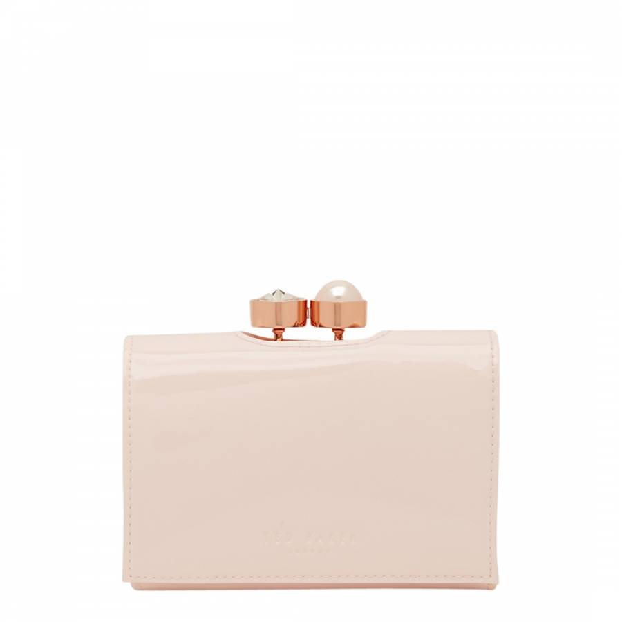 5f3b47287a6 Baby Pink Alix Pearl Bobble Small Leather Purse - BrandAlley
