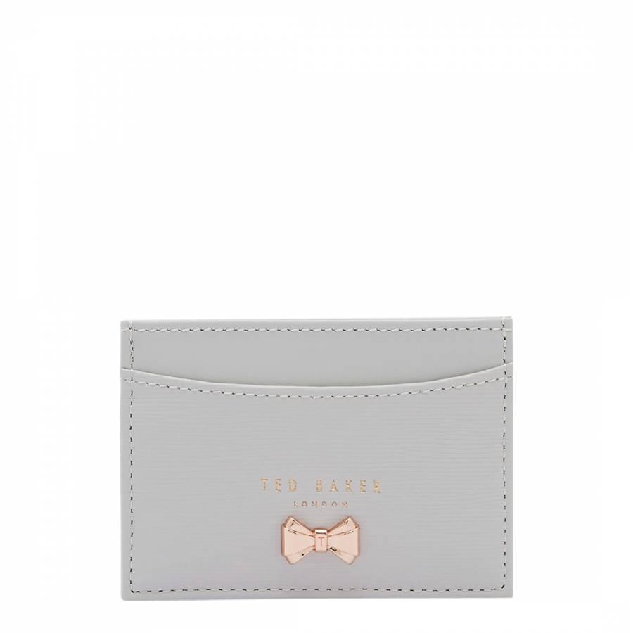 big sale 13264 ee77a Womens Light Grey Cilinir Micro Bow Card Holder