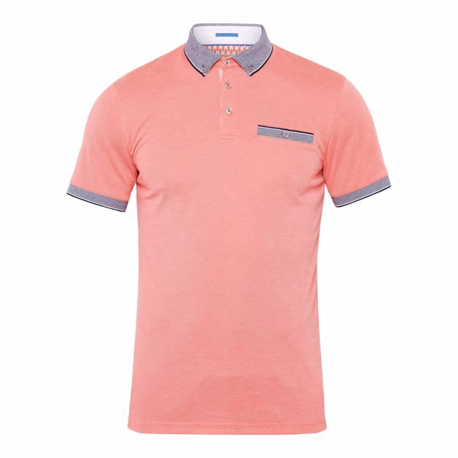 44211d82ddc5f5 Coral Shapiro Flat Knit Oxford Polo Shirt - BrandAlley