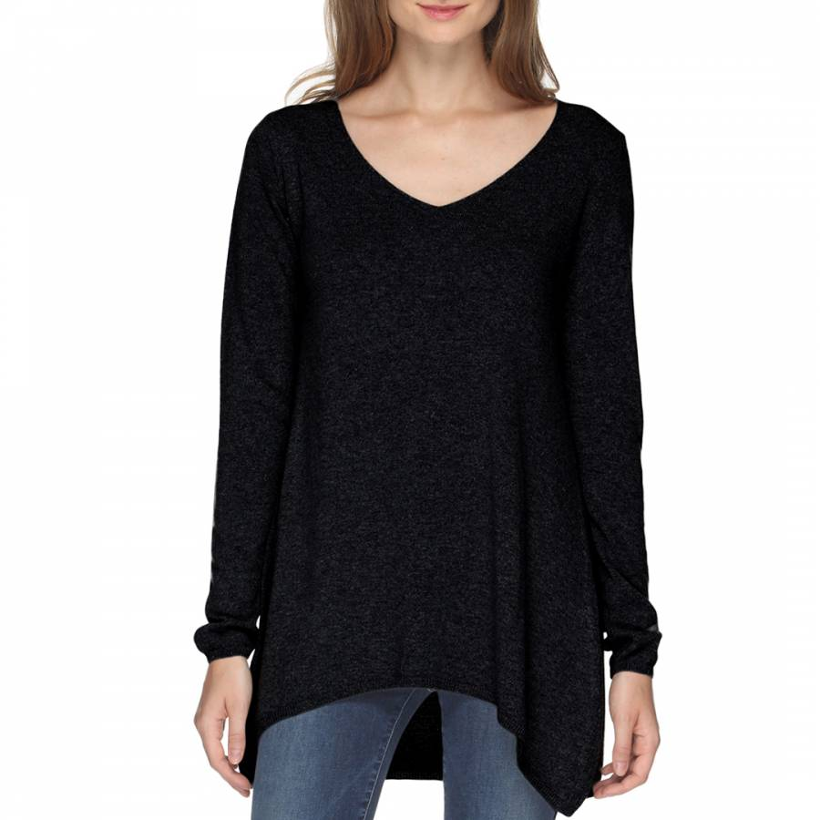 b867db92ddf Henry Cotton Women s Black V Neck Relaxed Wool Cashmere Blend Jumper. prev.  next. Zoom