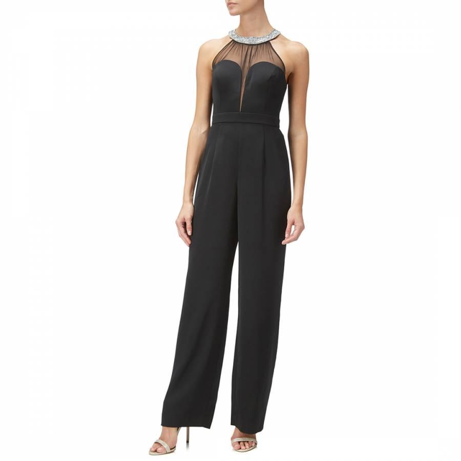 1a95bfa554 Black Necklace Crepe Jumpsuit - BrandAlley