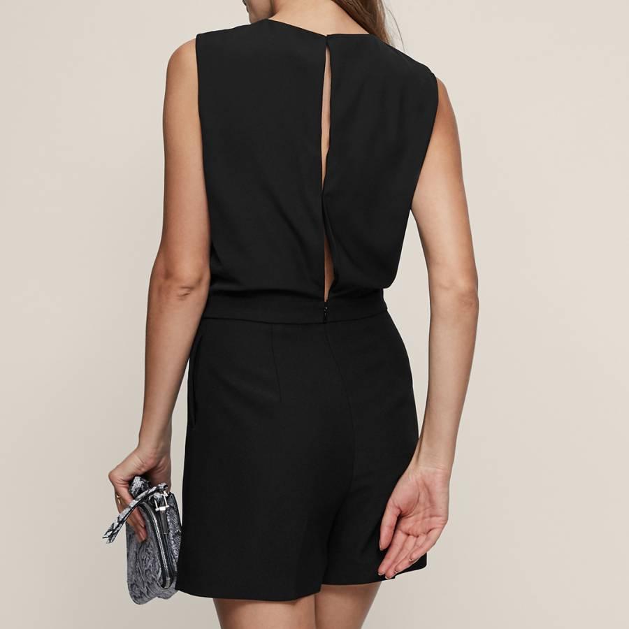 599fb848df Black Viola Knit Twist Playsuit - BrandAlley
