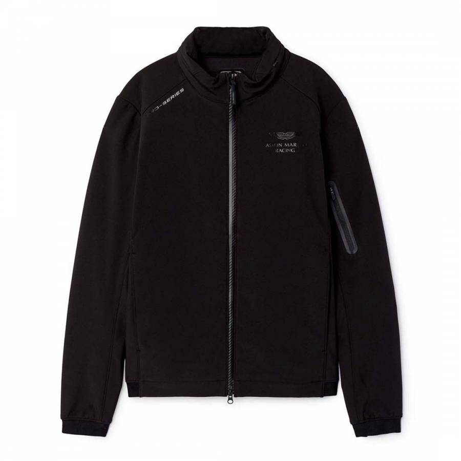 black aston martin racing soft shell jacket - brandalley