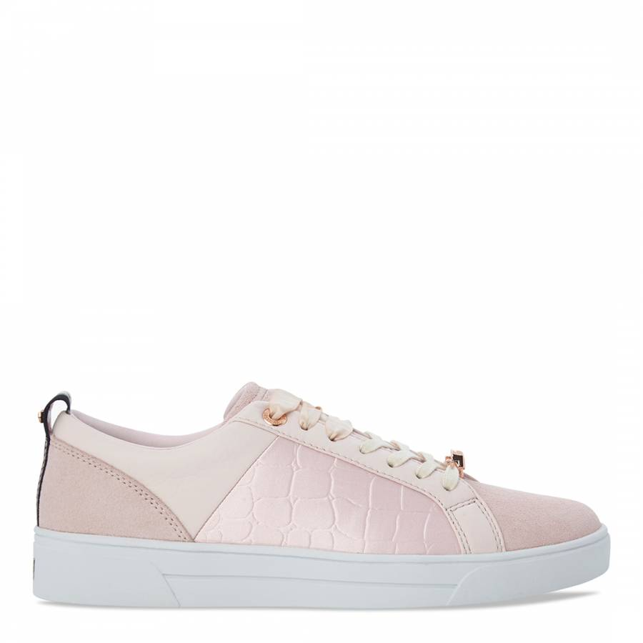 fd4c0d9bc8a8d6 Pink Leather Contrast Trim Kulei Sneakers - BrandAlley