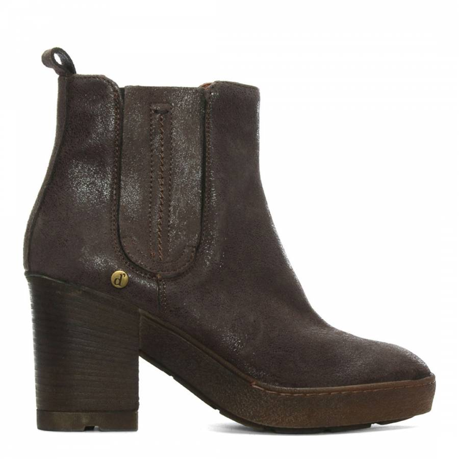 7a91e883cd60 Brown Leather Crepe Sole Ankle Boots - BrandAlley