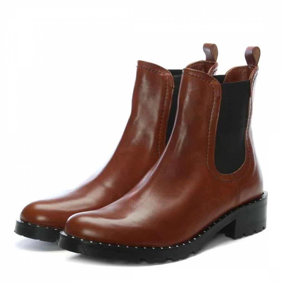 cognac leather chelsea boots brandalley. Black Bedroom Furniture Sets. Home Design Ideas