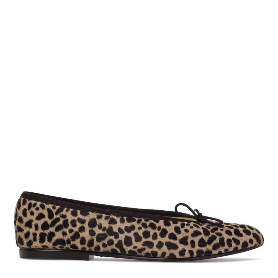 Leopard schwarz Trim Calf Calf Trim Hair Simple Flats BrandAlley 37a58c