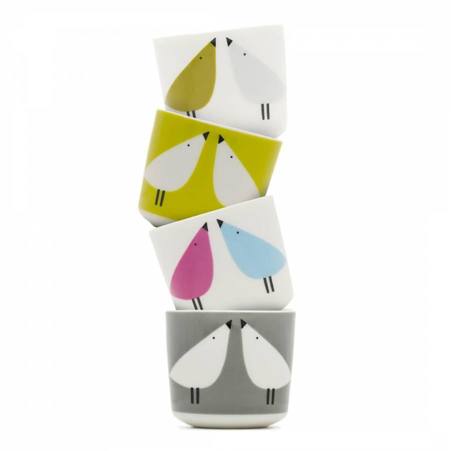 Multi Coloured Lintu Set of 4 Egg Cups - BrandAlley