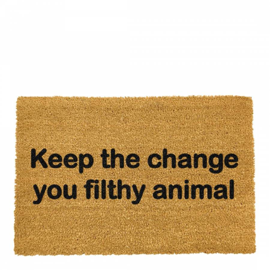 Doormat keep the change you filthy animal doormat photographs : Natural Keep the Change Doormat - BrandAlley
